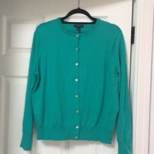 Lands End Green Cardigan Size XL